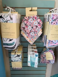 Copper Pearl Bibs, Burp Cloths and Swaddle Blankets